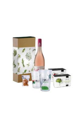 Ajándékcsomag válogatás borral, atlaszcédrus magokkal