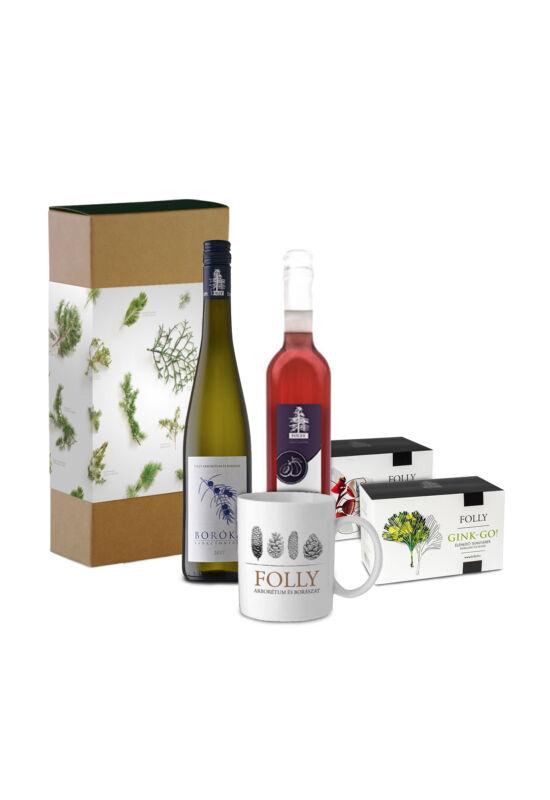 Ajándékcsomag válogatás borral és szörppel