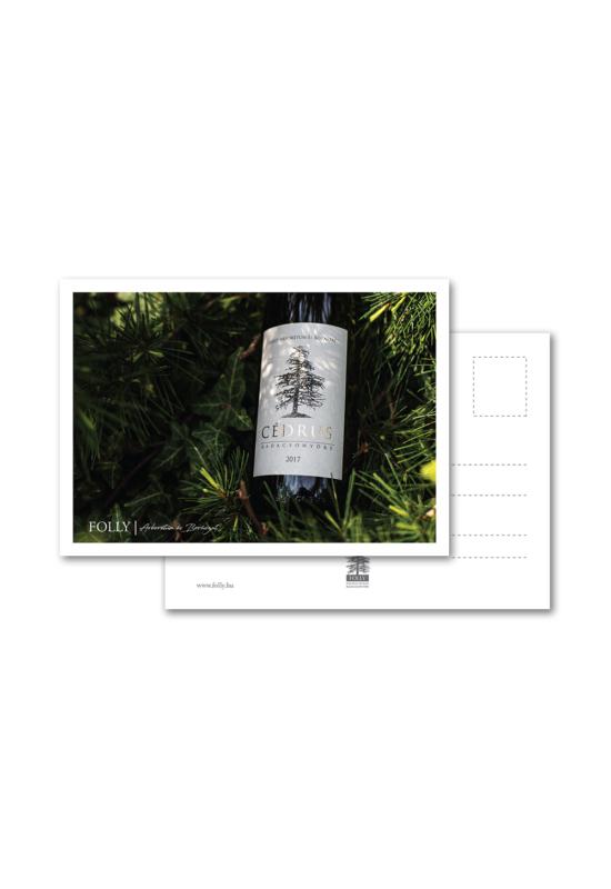 Folly Arborétum képeslap Cédrus palackos